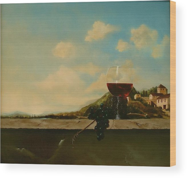 Roemer Wood Print featuring the painting Florence by Tjerk Reijinga
