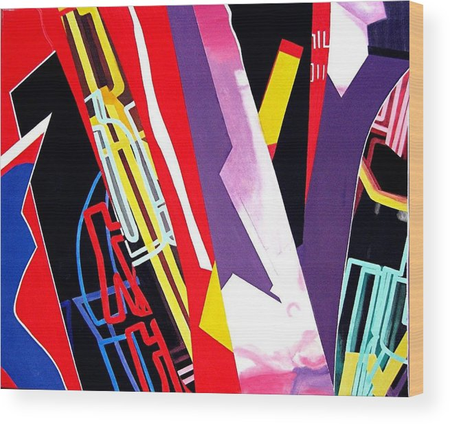 Jazz Wood Print featuring the painting Jazz by Barron Holland