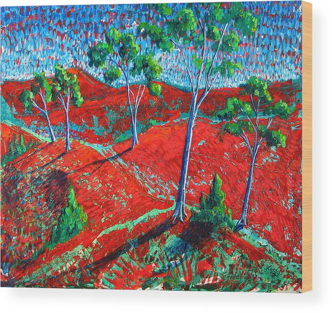Landscape Wood Print featuring the painting Life Carries On by Rollin Kocsis