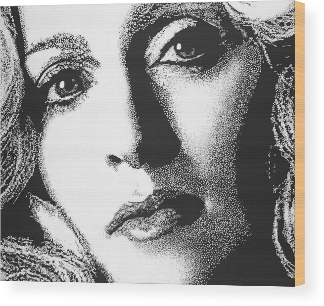 Portrait Wood Print featuring the painting Madonna by Max Eberle