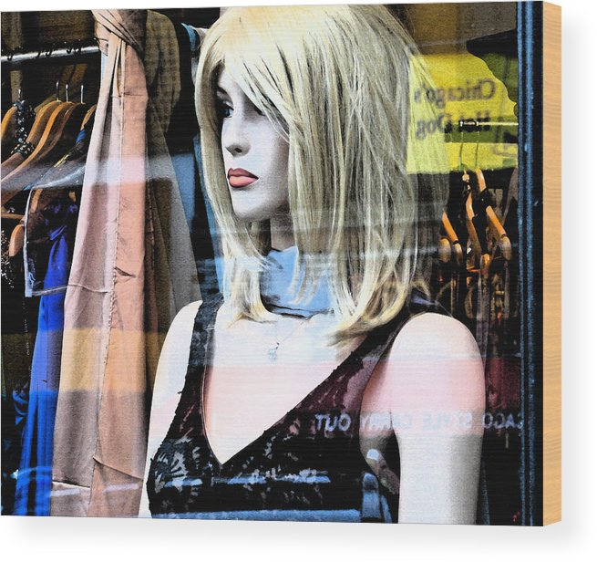 Modern Wood Print featuring the photograph Mannequin Window 4 by Gary Everson