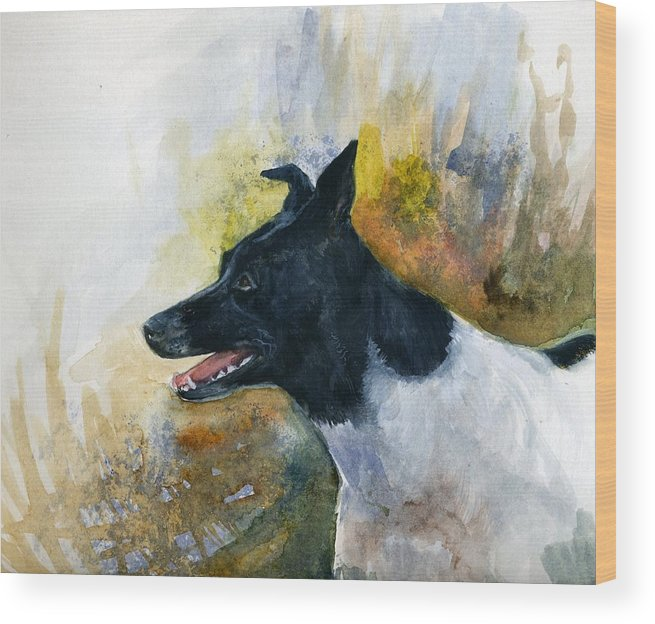 Animal Wood Print featuring the painting Our Jack by Jimmie Trotter