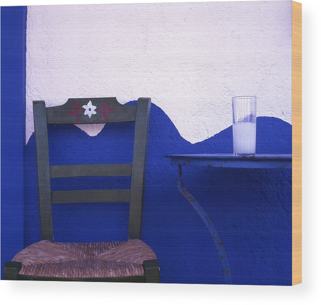 Drink Wood Print featuring the photograph Ouzo by Steve Outram