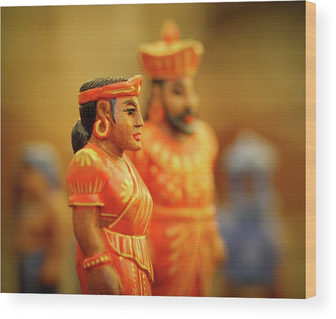 #chess Wood Print featuring the photograph Queen King by Dhanushka Bandara
