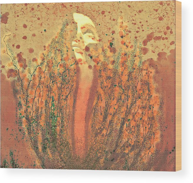 Abstract Wood Print featuring the digital art Released by Aurora Art