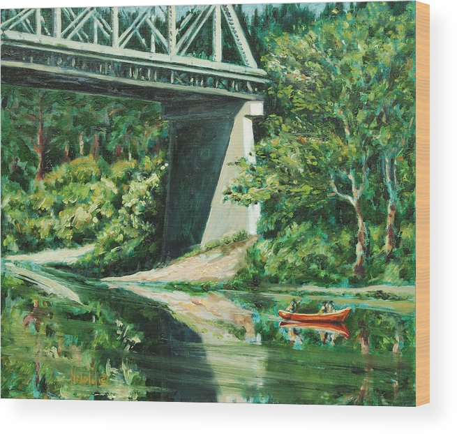 River Wood Print featuring the painting Russian River by Rick Nederlof