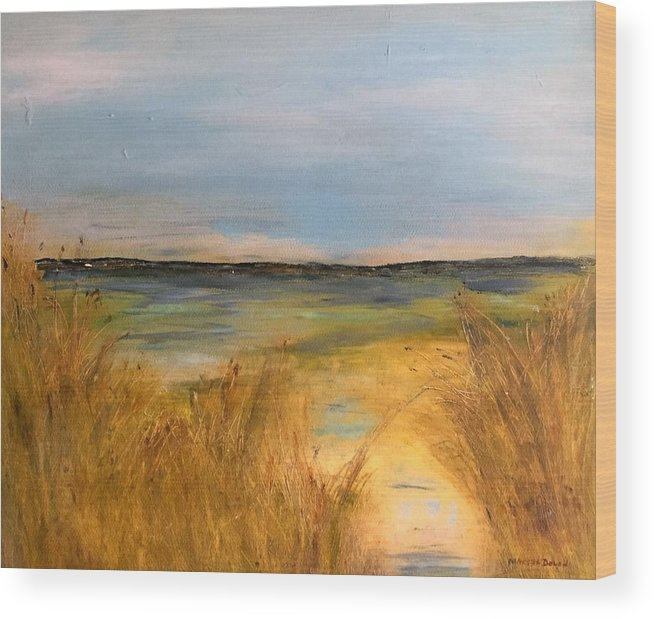 Seascape Wood Print featuring the painting Seascape by Martha Dolan