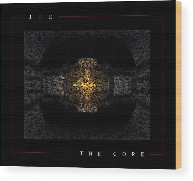 Car Wood Print featuring the photograph The Core by Jonathan Ellis Keys