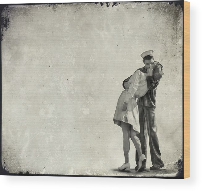 Kiss Wood Print featuring the photograph The Power Of A Kiss by Evelina Kremsdorf