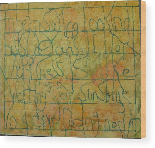 Watercolor Wood Print featuring the painting Tibetan Saying by AJ Brown
