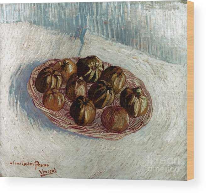 1887 Wood Print featuring the photograph Van Gogh: Apples, 1887 by Granger