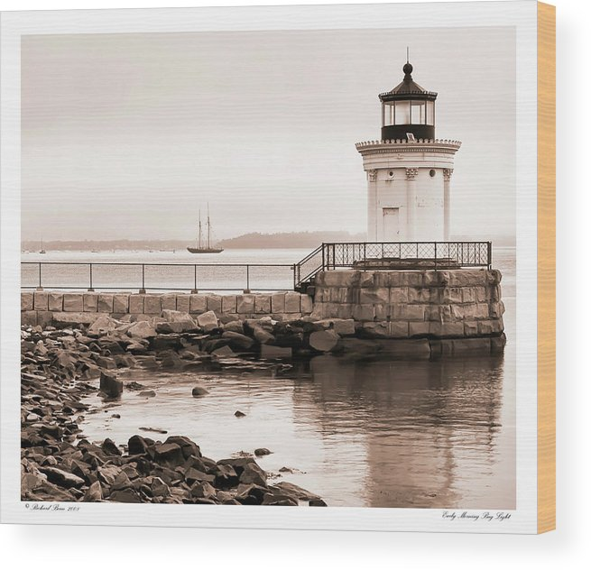 Architecture Wood Print featuring the photograph Early Morning Bug Light by Richard Bean
