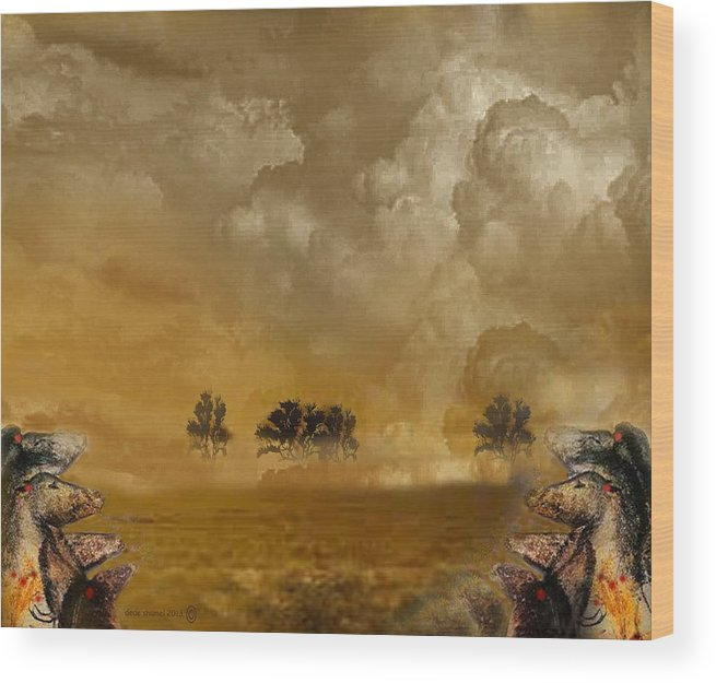 Horses Wood Print featuring the photograph Horses And Clouds by Dede Shamel Davalos