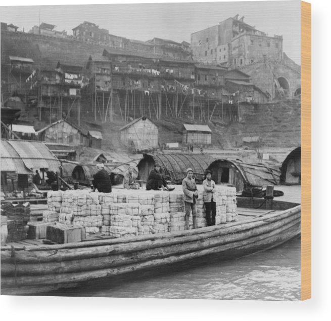 History Wood Print featuring the photograph The Riverfront Of Chungking, China by Everett