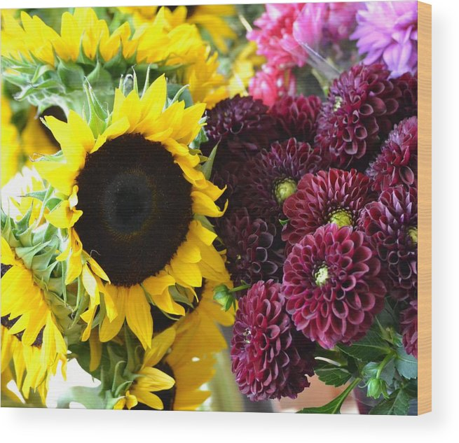 Flowers Wood Print featuring the photograph Color Splash by Monica Lyons