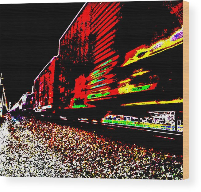 Iphone Wood Print featuring the photograph Hellbound Train by Vinnie Oliveri