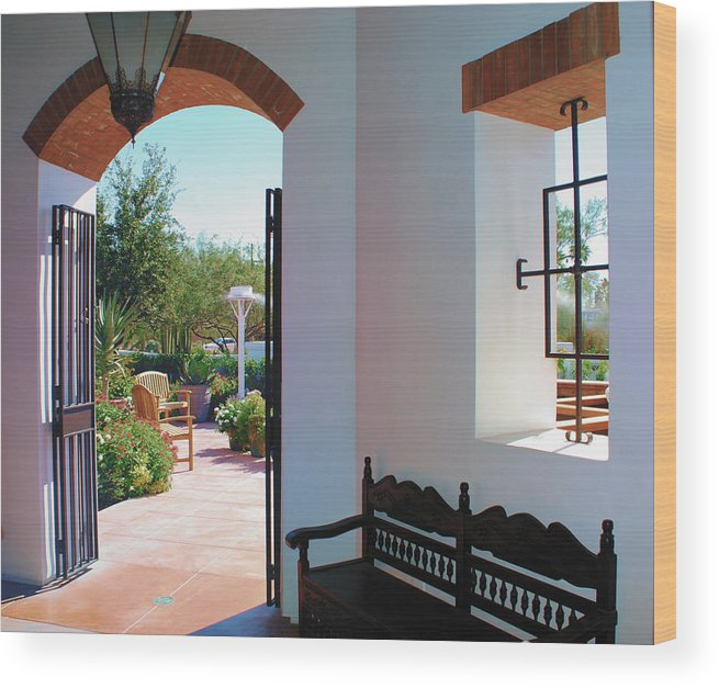 El Chorro Lodge Wood Print featuring the photograph View From Within by Diane Wood