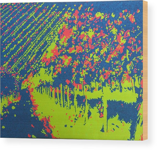 Acrylic Wood Print featuring the painting Vineyard Petrovecki by Archynah