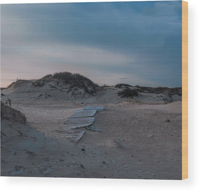 Beach Wood Print featuring the photograph Broken Path by Mark Majndle