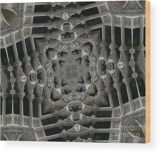 Gothic Architecture Wood Print featuring the photograph Flying Gothic 2 by Andy Mercer