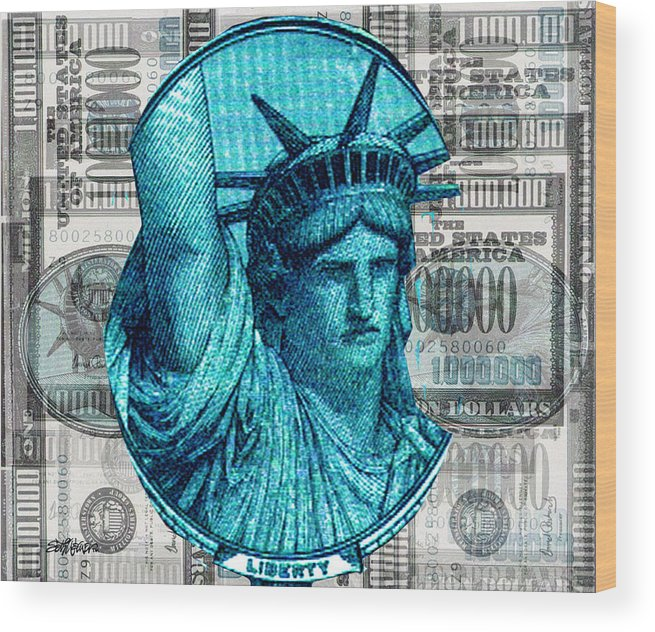 Millions Wood Print featuring the digital art Million Dollar Pile by Seth Weaver