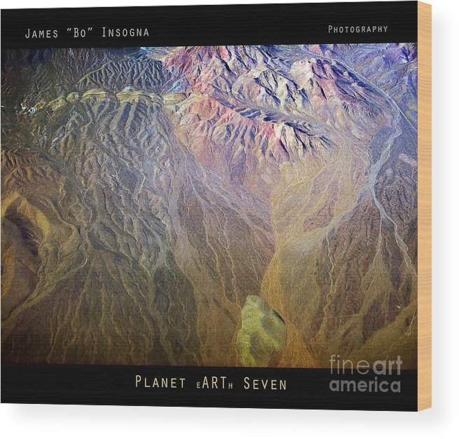 Abstract Wood Print featuring the photograph Planet Earth Seven by James BO Insogna