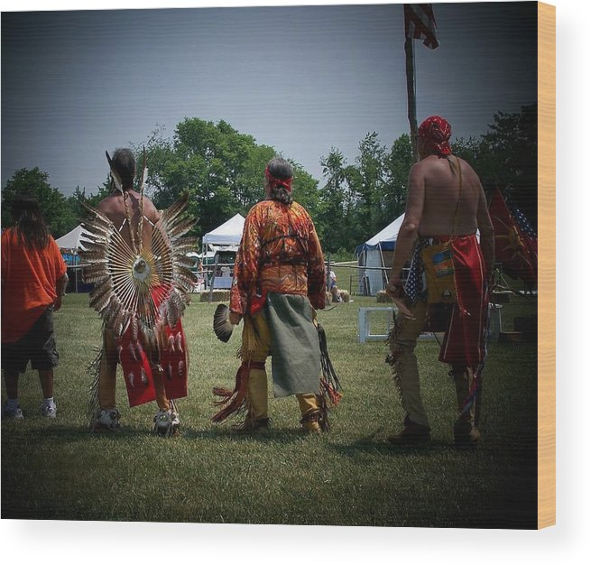 Pow Wow Wood Print featuring the photograph Pow Wow by Vijay Sharon Govender