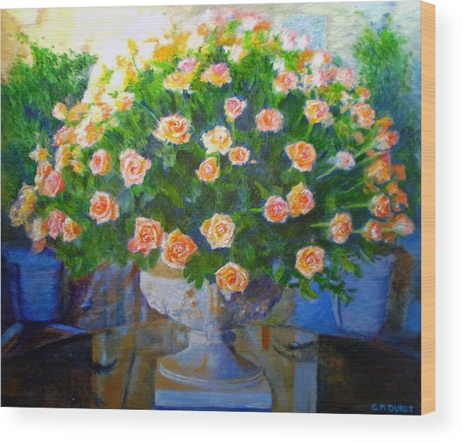 Rose Wood Print featuring the painting Roses At Table Bay by Michael Durst