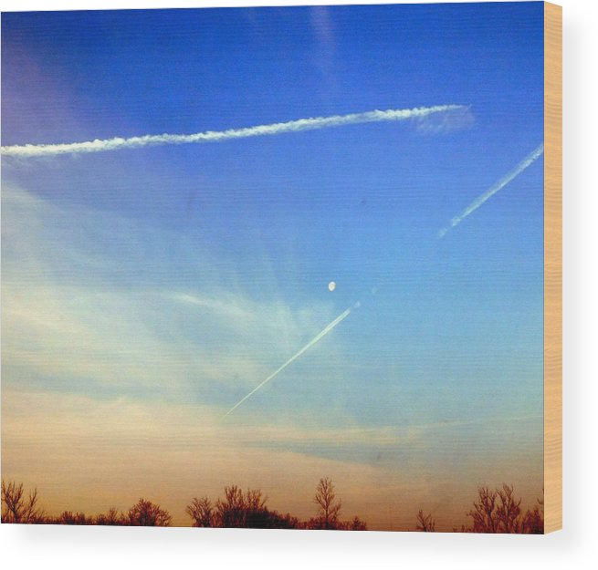 Sky Wood Print featuring the photograph Sky Art by Barb Montanye Meseroll