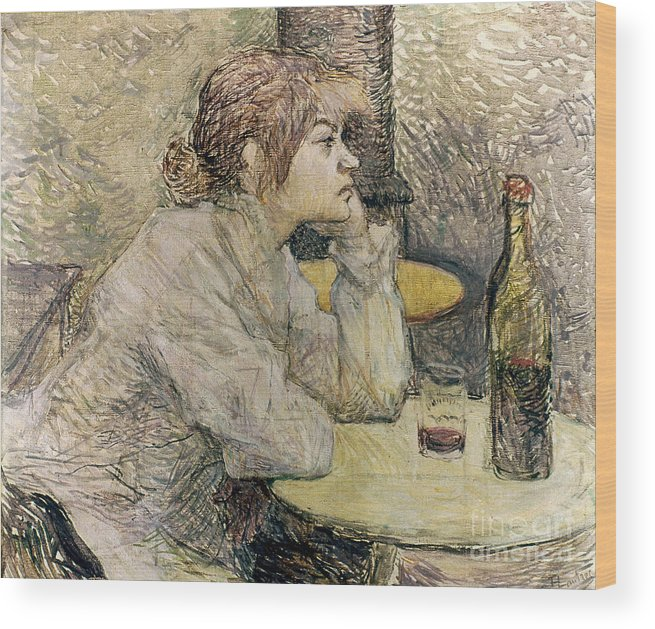 1889 Wood Print featuring the photograph Toulouse-lautrec, 1889 by Granger