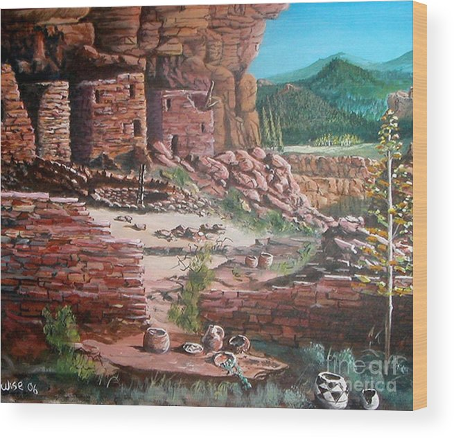 Native America Wood Print featuring the painting Undiscovered by John Wise