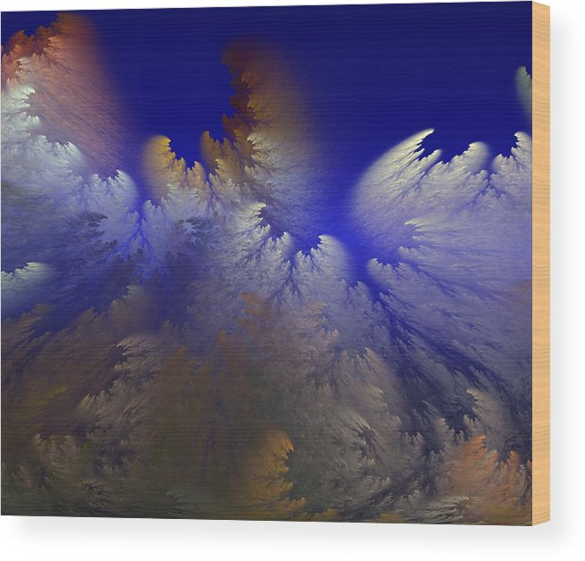 Abstract Digital Painting Wood Print featuring the digital art Untitled 11-1-09 by David Lane