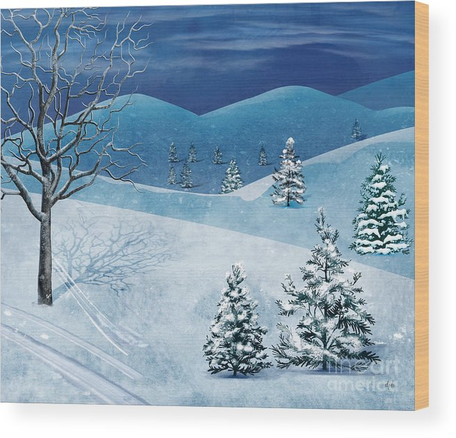 Winter Wood Print featuring the digital art Winter Solstice by Peter Awax