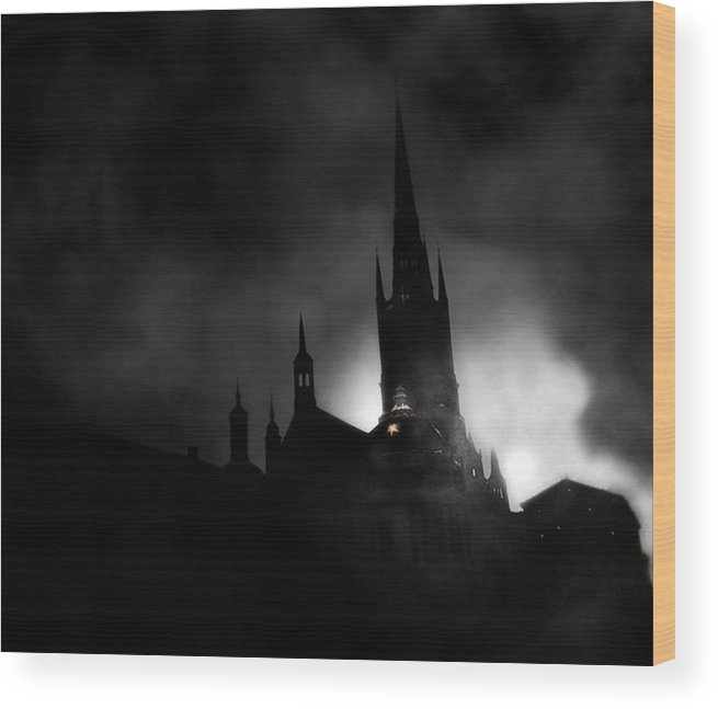 Photography Wood Print featuring the photograph Kyrka by David Fox