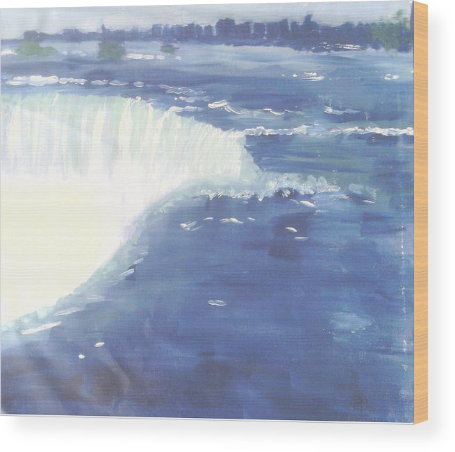 Water Falls Wood Print featuring the mixed media Water Falls by Alicia Lindley