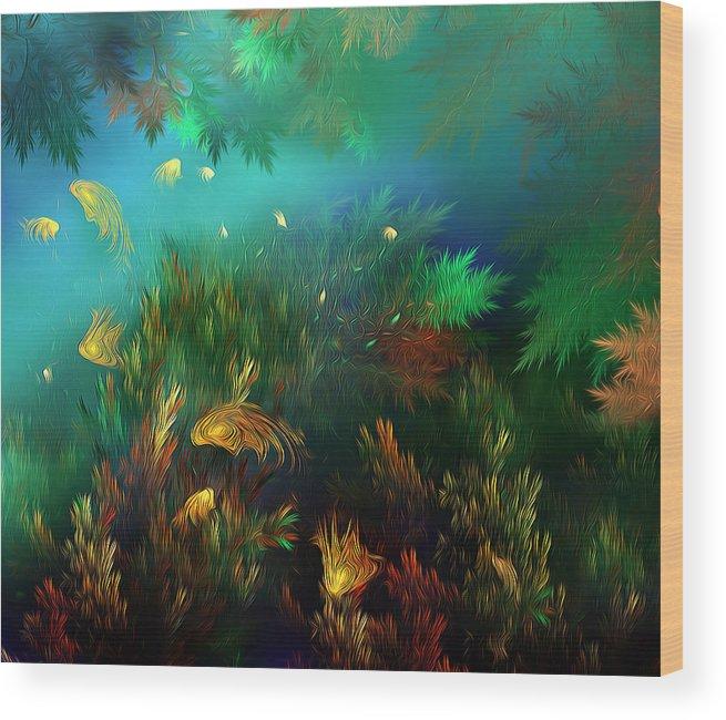 Fish Wood Print featuring the photograph Underwater World by Radoslav Nedelchev