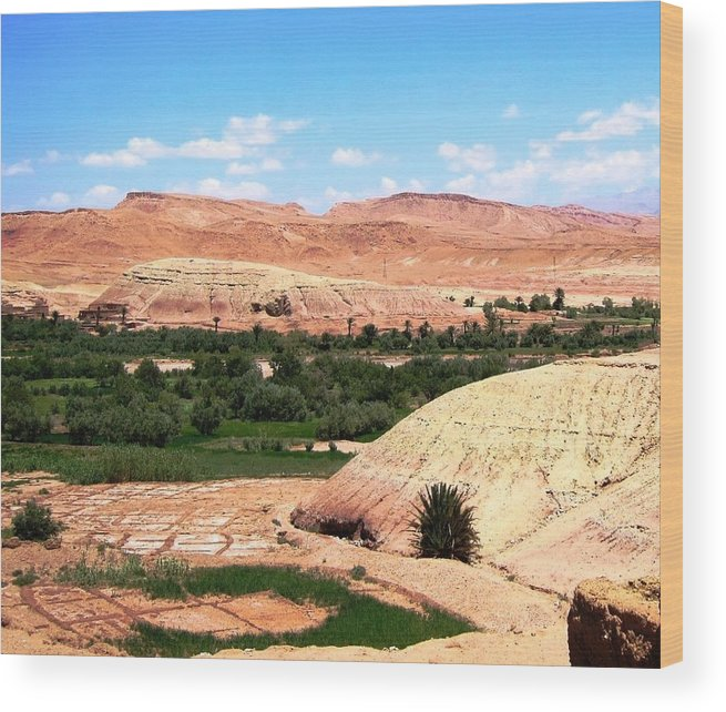 Morocco Wood Print featuring the photograph Ait Ben Haddou 3 by Teresa Ruiz
