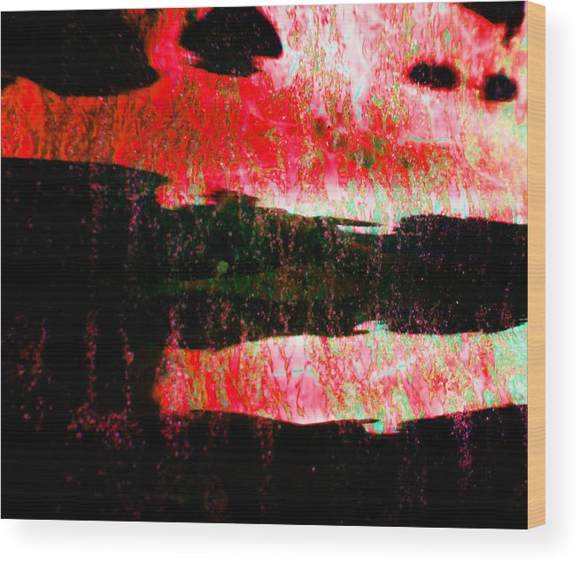 Anger Wood Print featuring the photograph Anger by Laurie Tsemak