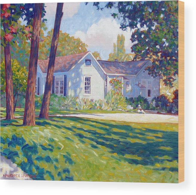 City Wood Print featuring the painting Artists Home by Kevin Lawrence Leveque