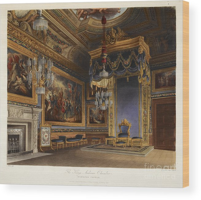 Castle By Name Wood Print featuring the photograph King's Audience Chamber, Windsor Castle by British Library