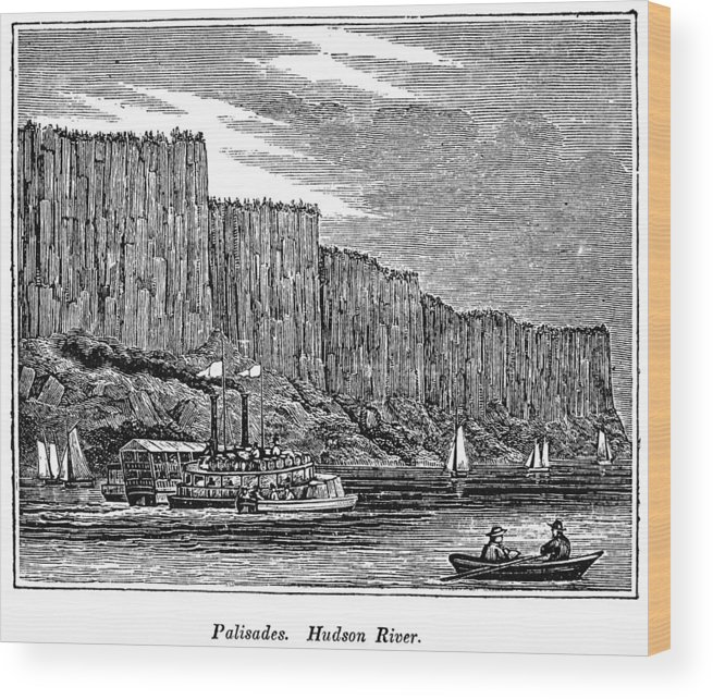 1844 Wood Print featuring the painting New Jersey Palisades by Granger