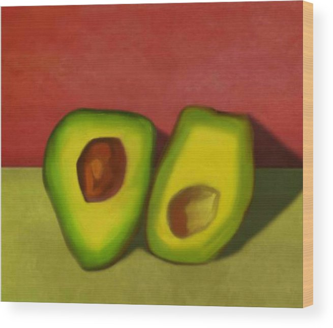 Avocado Wood Print featuring the digital art Resting And Waiting II by Emily Brown