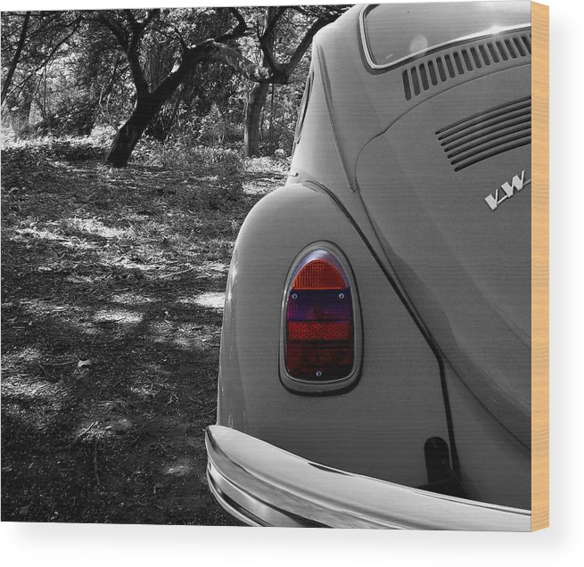 Automobile Wood Print featuring the photograph Woodland Beetle by Chris Cox