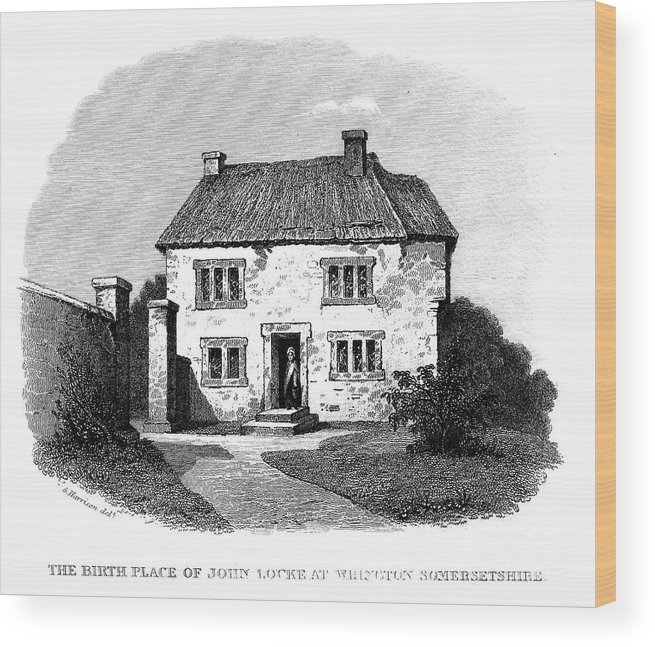 Birthplace Wood Print featuring the photograph John Locke (1632-1704) by Granger