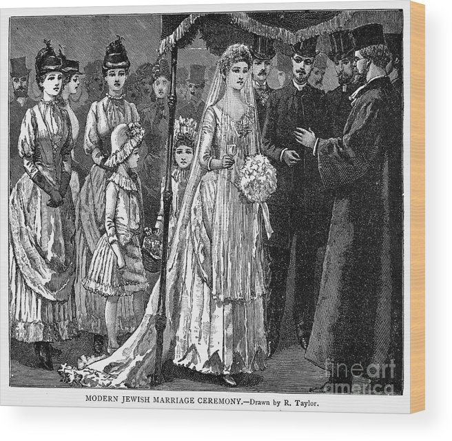 1892 Wood Print featuring the photograph Jewish Wedding, C1892 by Granger