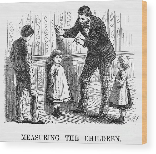 1876 Wood Print featuring the photograph Measuring Children, 1876 by Granger