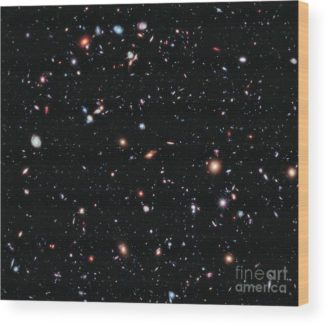 Hubble Ultra Deep Field Wood Print featuring the photograph Hubble Extreme Deep Field by Nasa