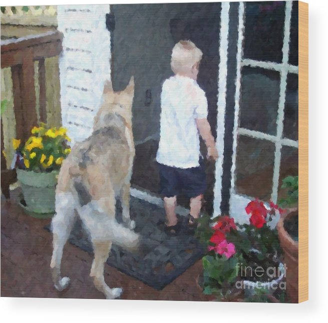 Dogs Wood Print featuring the photograph Best Friends by Debbi Granruth