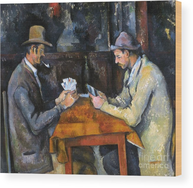 Aod Wood Print featuring the photograph Cezanne: Card Player, C1892 by Granger