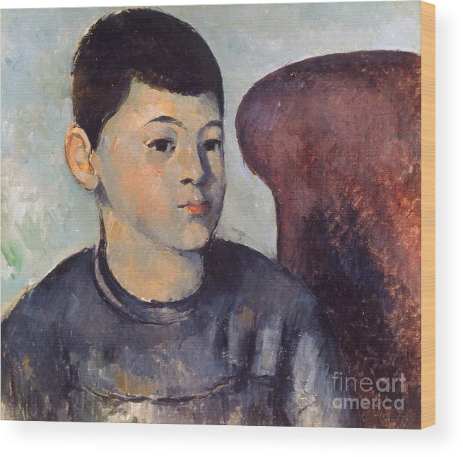19th Century Wood Print featuring the photograph Cezanne: Portrait Of Son by Granger